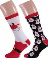 Foute kerstman kerstsokken 2 pak voor heren