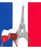 Frankrijk versiering servetten