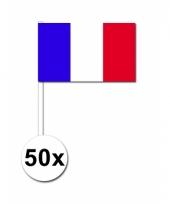 Frankrijk zwaai vlaggetjes 50 stuks
