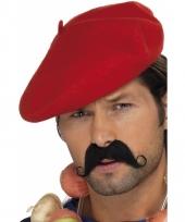 Frans alpino hoedje rood