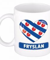 Friesche vlag hartje koffiemok 300 ml