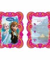 Frozen feest uitnodigingen 12 stuks