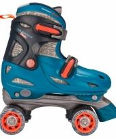 Fuchsia blauwe kids rolschaatsen verstelbaar