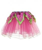 Fuchsia groen verkleed petticoat voor meiden