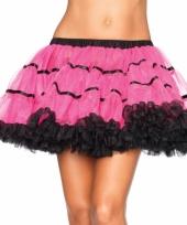 Fuchsia met zwart luxe petticoat