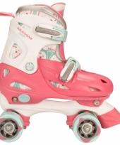 Fuchsia roze kids rolschaatsen verstelbaar