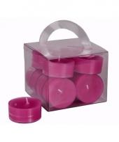 Fuchsia roze theelichtjes 12 stuks