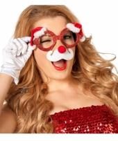 Funny kerstbril met neus