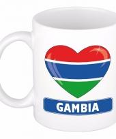 Gambiaanse vlag hartje koffiemok 300 ml
