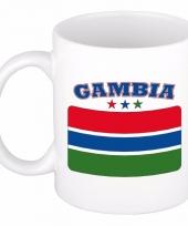 Gambiaanse vlag koffiebeker 300 ml