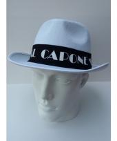 Gangster hoed wit met zwarte band