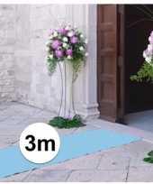 Geboorte feestartikelen 3 meter babyblauwe lopers 1 meter breed