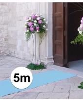 Geboorte feestartikelen 5 meter babyblauwe lopers 1 meter breed