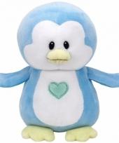 Geboorte jongetje knuffel ty baby pinguin twinkles 24 cm