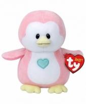 Geboorte meisje knuffel ty baby pinguin penny 17 cm