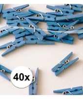 Geboorte versiering knijpertjes blauw 10090656