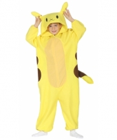 Geel cartoonfiguur jumpsuit voor kinderen