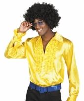 Geel overhemd met rouches