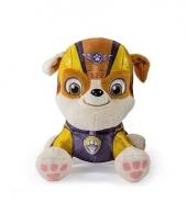 Geel paw patrol hondje knuffeldier 15 cm