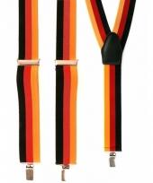 Geel rood zwart carnaval bretels