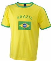 Geel shirt met braziliaanse print 10033160