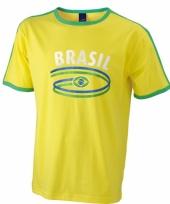 Geel shirt met braziliaanse print 10048393