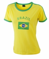Geel shirt met braziliaanse print 10048782