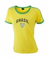 Geel shirt met braziliaanse print 10048783