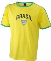 Geel shirt met braziliaanse print