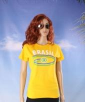 Geel t-shirt met braziliaanse print 10048399