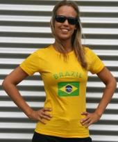 Geel t-shirt met braziliaanse print