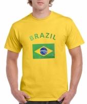 Geel t-shirt met brazilie print