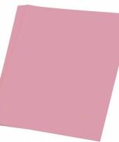 Gekleurd hobby papieren lichtroze a4