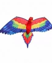 Gekleurd speelgoed vliegertje papegaai