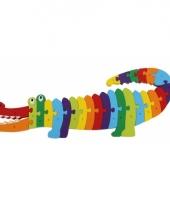 Gekleurde abc krokodil puzzels