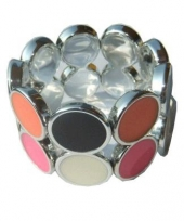 Gekleurde armband met cirkels