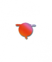 Gekleurde ballon banner 17 cm