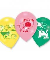 Gekleurde ballonnen boerderij dieren