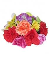 Gekleurde bloemen hoed hawaii