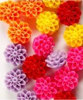 Gekleurde bloemkralen voor armbandjes 20 stuks