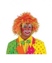 Gekleurde clown pruik volwassenen