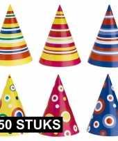 Gekleurde feesthoedjes 250 stuks