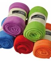 Gekleurde fleece deken