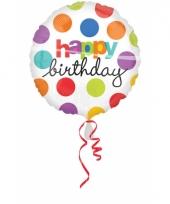 Gekleurde folie ballon birthday 10027465