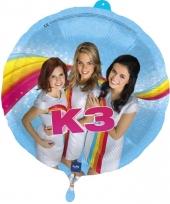 Gekleurde folieballon k3 45 cm