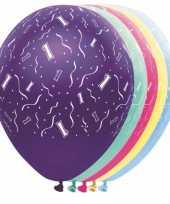 Gekleurde helium ballonnen 1 jaar
