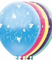 Gekleurde helium ballonnen 4 jaar