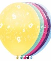 Gekleurde helium ballonnen 5 jaar
