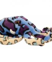 Gekleurde knuffel octopus 25 cm