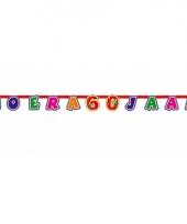 Gekleurde letterslinger 60 jaar